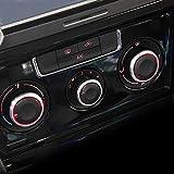 Elegante Aufkleber für Bedienknopf von Belüftungssteuerung, Aluminiumlegierung, passgend für VW Volkswagen Polo, Baujahr 2010/2011/2012