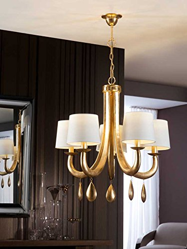 LAMPE ·GRACIA· FEUILLE D'OR 5L