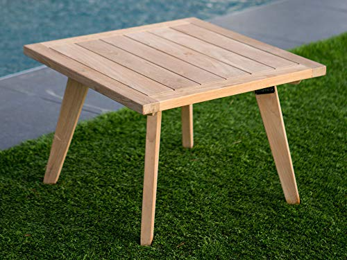 Table Basse de Jardin en Teck Brut 60x60cm ETHNIKA