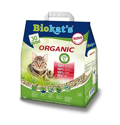 Lettiera Biokat\'s Organic 10 lt - Lettiera agglomerante per gatto, con fibre vegetali