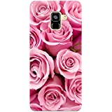 MADANYU Pink Rose Being Floral Feeling Floral Designer Printed Hard Back Shell Case For Samsung A7 2018