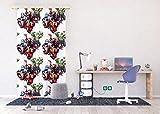 AG Design - Gardine – Vorhang – Fotogardine - Kinderzimmer Avengers Marvel - 140 x 245 cm – 1 Teil - FCSL 7123