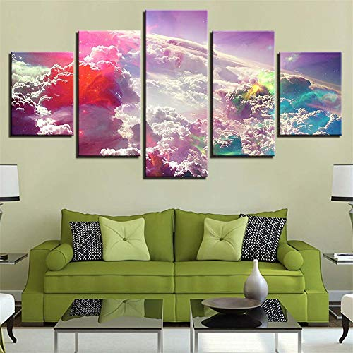 Comecong Dekorative Malerei,Inkjet-Kombination Farbe Landschaft Kunst Malerei einfache HD-Mode nach Hause Hintergrund Malerei Wandmalerei 2 Malerei Kern 20x35cmx2 20x45cmx2 20x55cmx1
