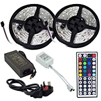 Waterproof 10 Meter 5050 RGB LED Strips Light Full Kit 44Key Remote Power Supply