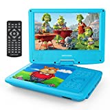 "DBPOWER 9"" Portable DVD Player, Swivel Screen, 4 Hours Rechargeable Battery, Supports SD Card and USB Port, Direct Play in Formats AVI/RMVB/MP3/JPEG (Blue)"