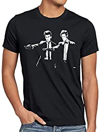 style3 Who Time Fiction T-Shirt Herren police doctor box space dr tarantino