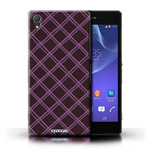 Kobalt® Imprimé Etui / Coque pour Sony Xperia Z2 / Vert/Noir conception / Série Motif Entrecroisé Violet/Noir