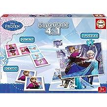 Juegos educativos Educa - Disney superpack 4 en 1, Juego de Mesa con diseño de