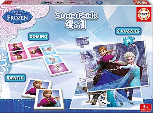 Juegos educativos Educa - Disney superpack 4 en 1, juego de mesa con d