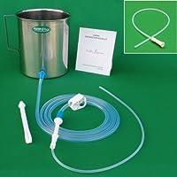 HealthAndYoga(TM) Stainless Steel Enema Kit with PVC Tubing: 2 Quart