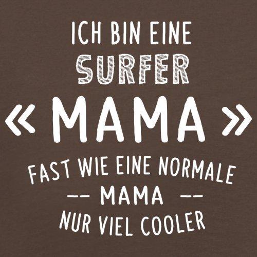 Ich bin eine Surfer Mama - Herren T-Shirt - 13 Farben Schokobraun