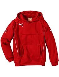 PUMA Sweatshirt Hoody - Sudadera de fútbol para niña, color rojo / blanco, talla FR: 176 cm