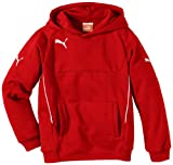 PUMA Kinder Pullover Hoody, Rot (Red-white), 164, 653979 01