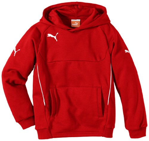 PUMA Kinder Pullover Hoody, Rot (Red-white), 164, 653979 01 -