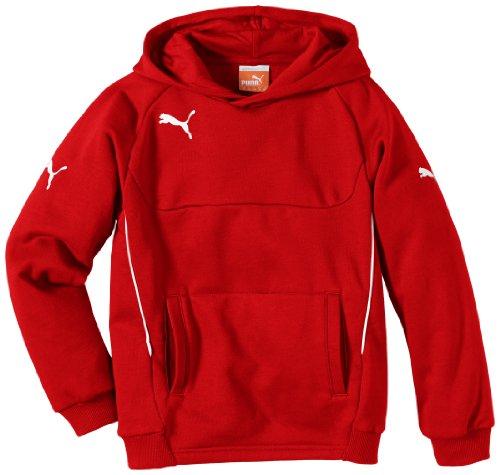 PUMA Kinder Pullover Hoody, Rot (Red-white), 164, 653979 01 Ärmel Pullover Hoody