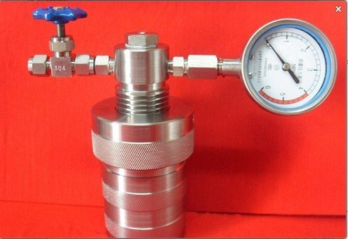 Gowe 250ml hydrothermalen Synthese Autoklaven Reactor Druck Schmelzschale mit Teflon Kammer & Manometer
