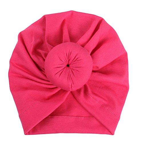 Fuibo Baby Hut, Baby-Turban-Kleinkind scherzt Jungen-Mädchen-Indien-Hut reizenden weichen Hut| Kinder Kappe Fischerhut Schirmmütze Strohhut (Hot Pink) -