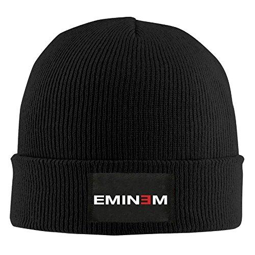 Hittings OYOLOY Eminem Logo Knit Cap Woolen Hat For Unisex Black