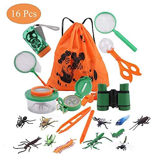utdoor Exploration Spielzeug Kit für Kinder Fun Toys Abenteuer Set Für Jungen Mädchen Geburtstagsgeschenk Kinder Fernglas Set für Camping Wandern Pretend Play ()
