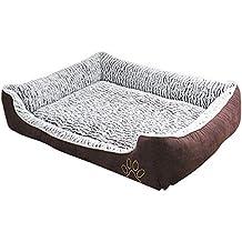 GUOCU Cómodo Casa para Mascotas Desmontable Lavable Rectangular Perrera Canasta de Perro Mascota Casa Suave Sofá