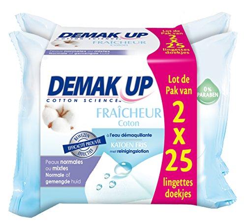 Demak'Up 25 febbraio Salviette detergenti e casse di acqua Freschezza normali o miste della pelle - Set di 4