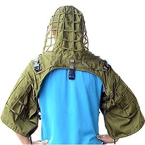 Chasse Ghillie Viper Hood Sniper Tactical Ghillie Suit fondation capuche de vipere armée verte