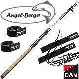 DAM PTS Tele Trout Forellenrute 3,10m 5-20g mit Angel Berger Rutenband