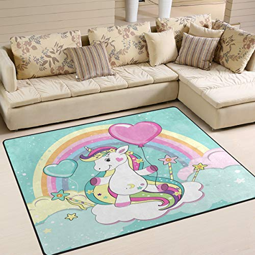 Use7 - Alfombra de Unicornio con Globo y Nube