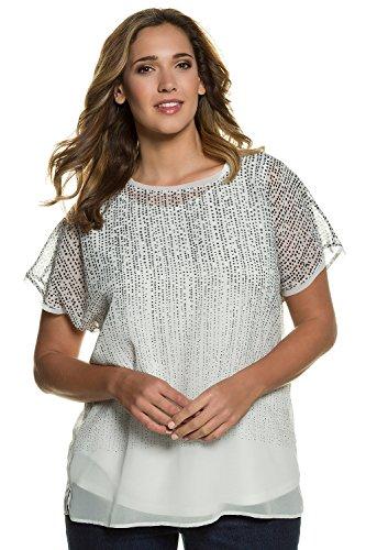 Ulla Popken Femme Grandes tailles Blouse 710399 Blanc Cassé