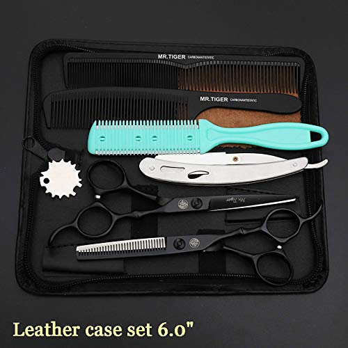 KHKJ Japan Steel 5.5 6.0 Professional Hairdressing Scissors Hair Professional Barber Scissors Set Hair Cutting Shears Scissor Haircut - High-shear