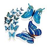 Selou 3D DIY Wandaufkleber Schmetterling Kühlschrank AufkleberInneneinrichtung Blumenaufkleber Zimmerdekoration Wandaufkleber Hintergrundbild Abnehmbare Wandmalerei side kühlschrank kühlschrank kombi