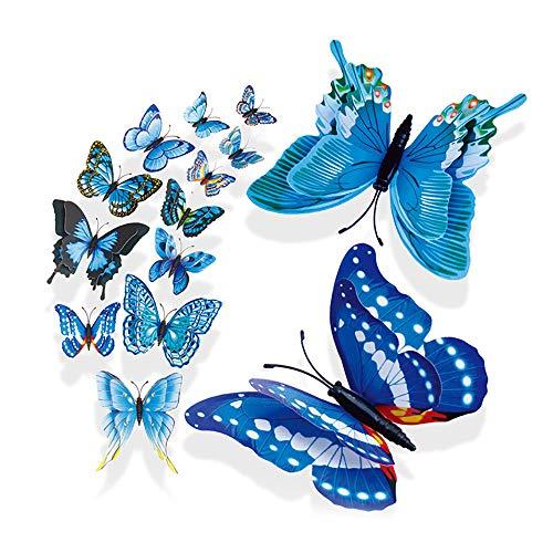 Kostüm Kühlschrank - VICKY-HOHO 3D DIY Wand Aufkleber Kühlschrank Magnet Home Decor Schmetterling Aufkleber Zimmer Dekor