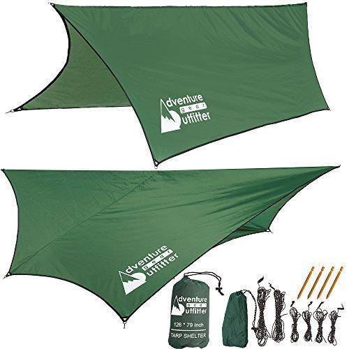 Adventure Gear Outfitter Hängematte Regen Fliege Zelt Plane starkes Ripstop-Nylon, schließt alles ein, auf dem Sie für leichten Sept. brauchen.