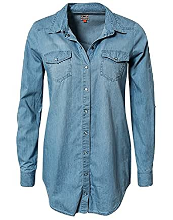 ONLY Women's Long - regular Blouse -  Blue - 16