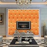 Quaan 3D Jahrgang Leder strukturiert Tapete PVC Wandgemälde Realistisch Aussehen Wasserdicht Schlafzimmer Dekor DIY Mauer Aufkleber Zuhause Küche Möbel Spiegel Windows Tür Gemälde (300cm x 40 cm, G)