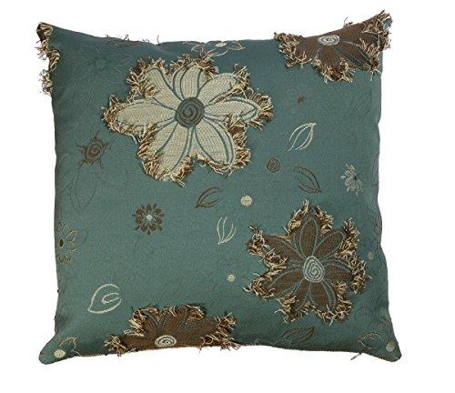 Kissenhülle Zierkissen von Beletage 40 X 40 cm , Doubleface Blüten Viskose Polyester Baumwolle