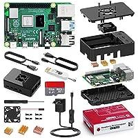 Bqeel Raspberry Pi 4 Model B 【4GB RAM+32GB SD Card 】 Versión Actualizada de Raspberry pi 3b+ con 2 Micro HDMI,BT 5.0,Doble WiFi,2*USB 3.0/USB 2.0,USB-C Adaptador con Interruptor
