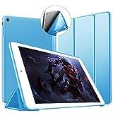 VAGHVEO Coque pour iPad Air, Ultra-Mince et léger Etui Housse Smart Case [Veille/Réveil Automatique] avec Silicone TPU Souple Cover pour Apple iPad Air 1 9,7 Pouces (modèles A1474 A1475 A1476), Bleu