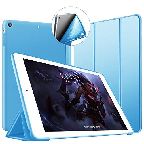 VAGHVEO Custodia per iPad Air, Ultrasottile e Leggere Smart Case con Funzione Auto Sleep/Wake Silicone Morbido TPU Cover per Apple iPad Air 1 9.7 Pollici 2013 (Modello A1474,1475,1476), Azzurro