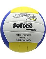 Softee 0002101 - Balón de vóley playa, color amarillo / blanco / azul, talla L