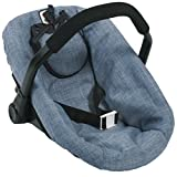 Bayer Chic 2000 708 50 Car Seat for Baby Dolls, Jeans Blue