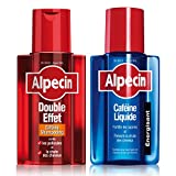 Alpecin Shampooing Caféine Double Effet, 200 ml + Alpecin Caféine Liquide, 200 ml (shampooing anti-chute & antipelliculaire + liquide)