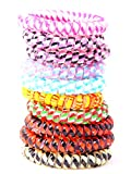 10pcs set colorful hair elastic (plastic spiral), hair rubber, telephone wire, elastic, hair accessories by the brand MyBeautyworld24