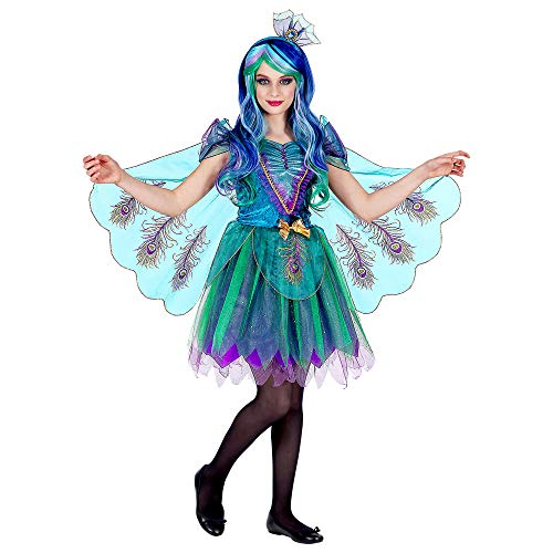 WIDMANN Srl traje de pavo Real para niña, Multicolor, wdm06996