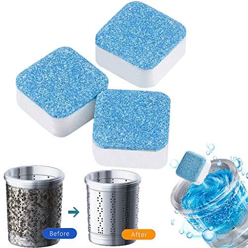 Baipin 3in1Waschmaschinen Hygiene-Reiniger, 24 Pcs Maschinen Entkalker Maschinenreiniger Waschmaschine Reiniger - Waschmaschinen Tiefenreinigung, Hygienereiniger 3fach aktiv gegen Fett, Kalk, Gerüche