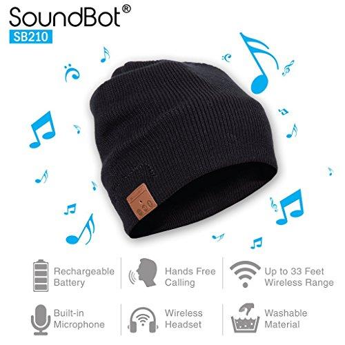 SoundBot SB210 Wireless Winter Beanie Headset 51Wxw4oMr7L