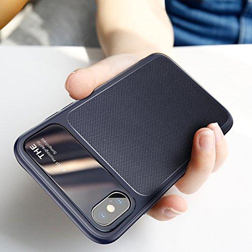 GHC Cases & Covers, für iPhone X TPU Hombic Texture Schutzhülle für die Rückseite ( Color : Blue - Speck Handy Brieftasche