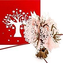 "Glückwunschkarte 3D Pop up Hochzeitskarte /""LOVE Tree/"" primetea Verlobungs"