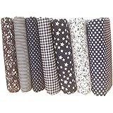 LUFA 7pcs Coton Tissu Fleur Point Étoile Bricolage Coton Paquet Quilting tissu pour Patchwork Artisanat Tissu