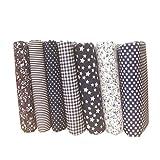 LUFA-7pcs-Coton-Tissu-Fleur-Point-toile-Bricolage-Coton-Paquet-Quilting-tissu-pour-Patchwork-Artisanat-Tissu